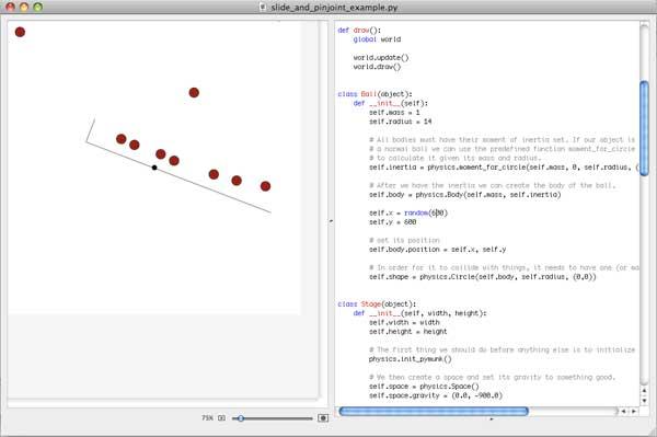 pymunk in nodebox screenshot